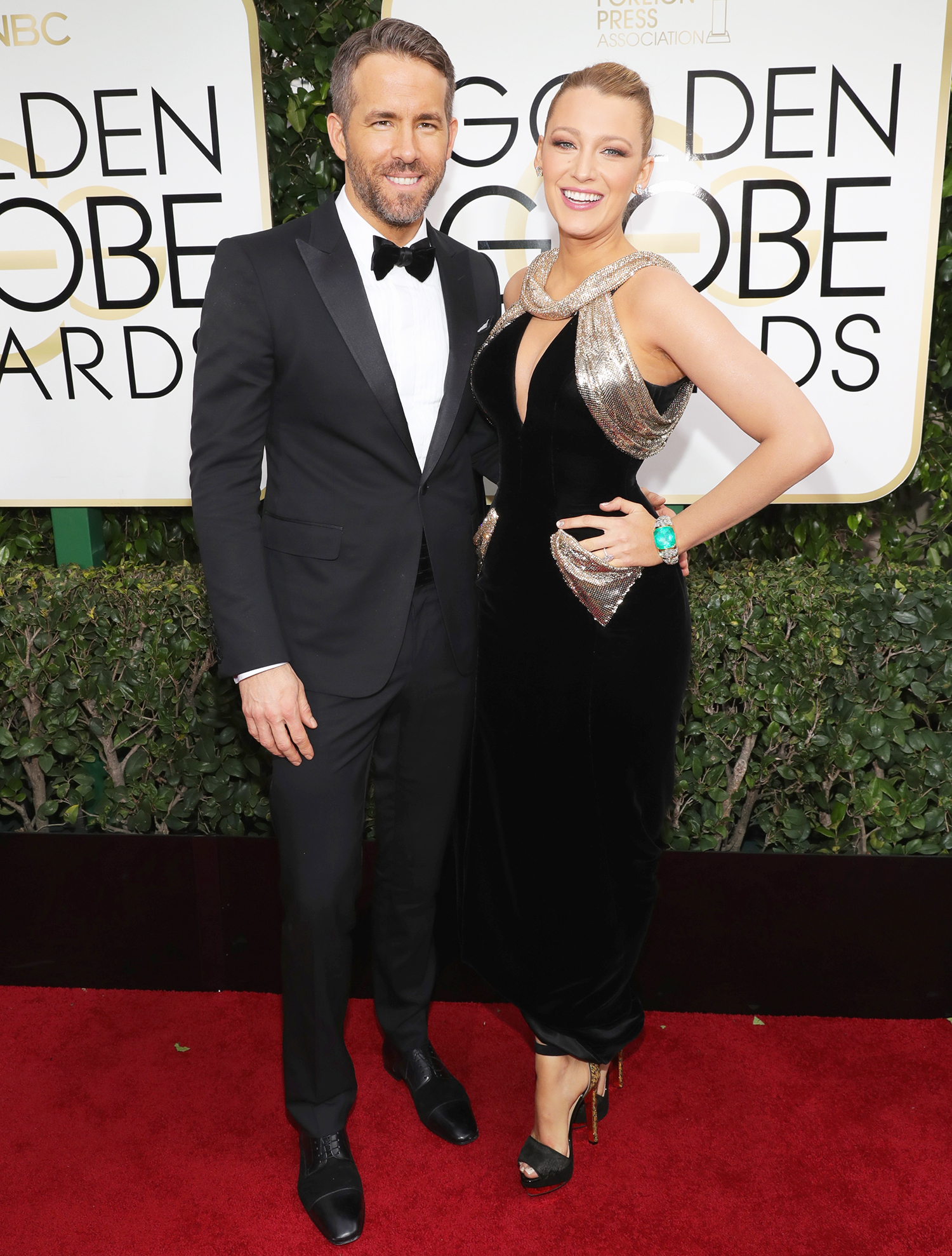 Ryan Reynolds and Blake Lively arrive at the 74th Annual Golden Globe Awards held at the Beverly Hilton Hotel on Jan. 8, 2017.