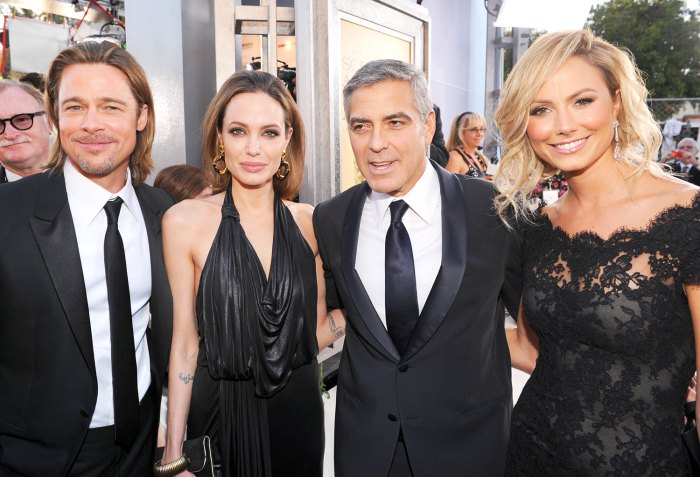 Brad Pitt, Angelina Jolie, George Clooney and Stacy Keibler