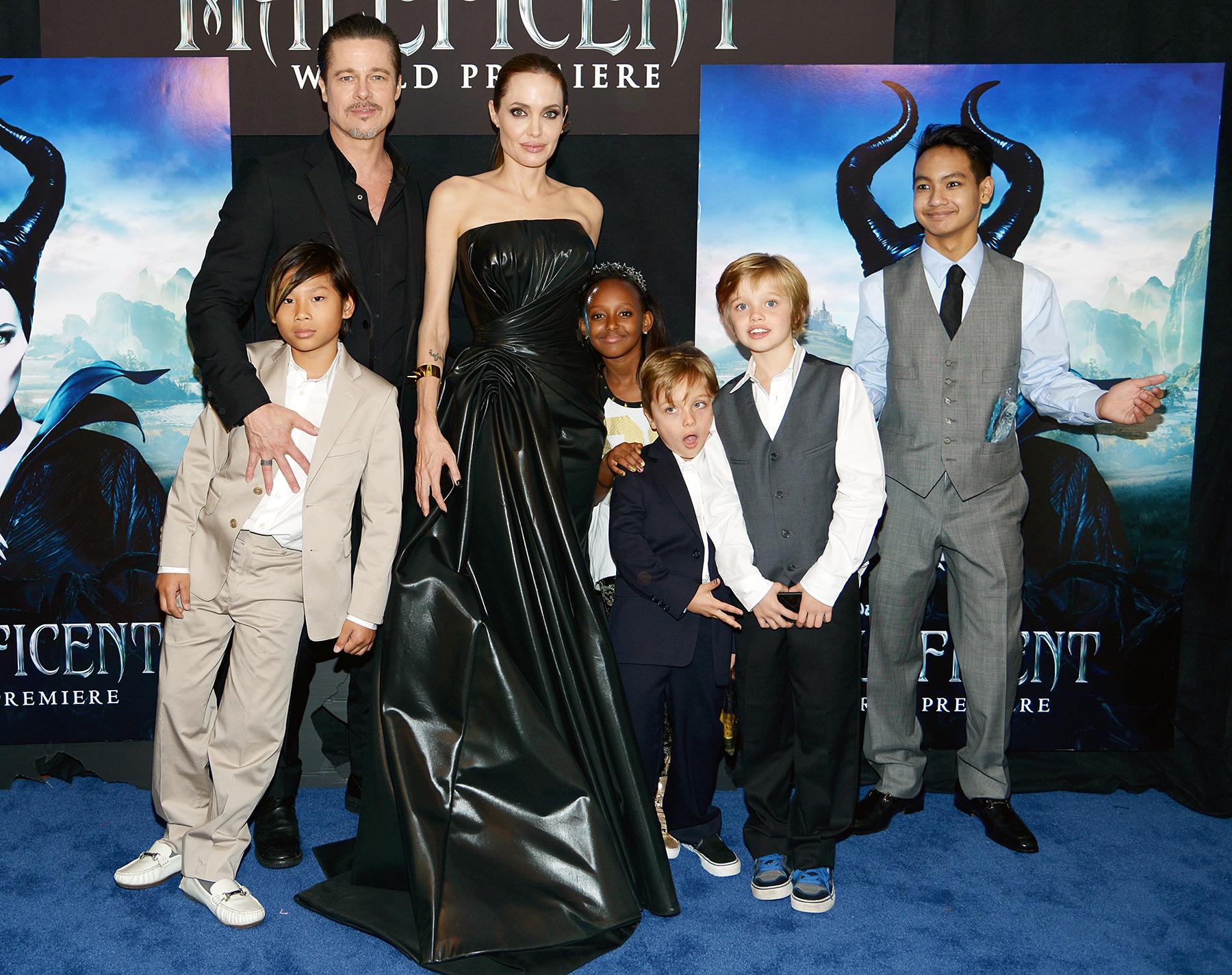 Brad Pitt Angelina Jolie family kids children