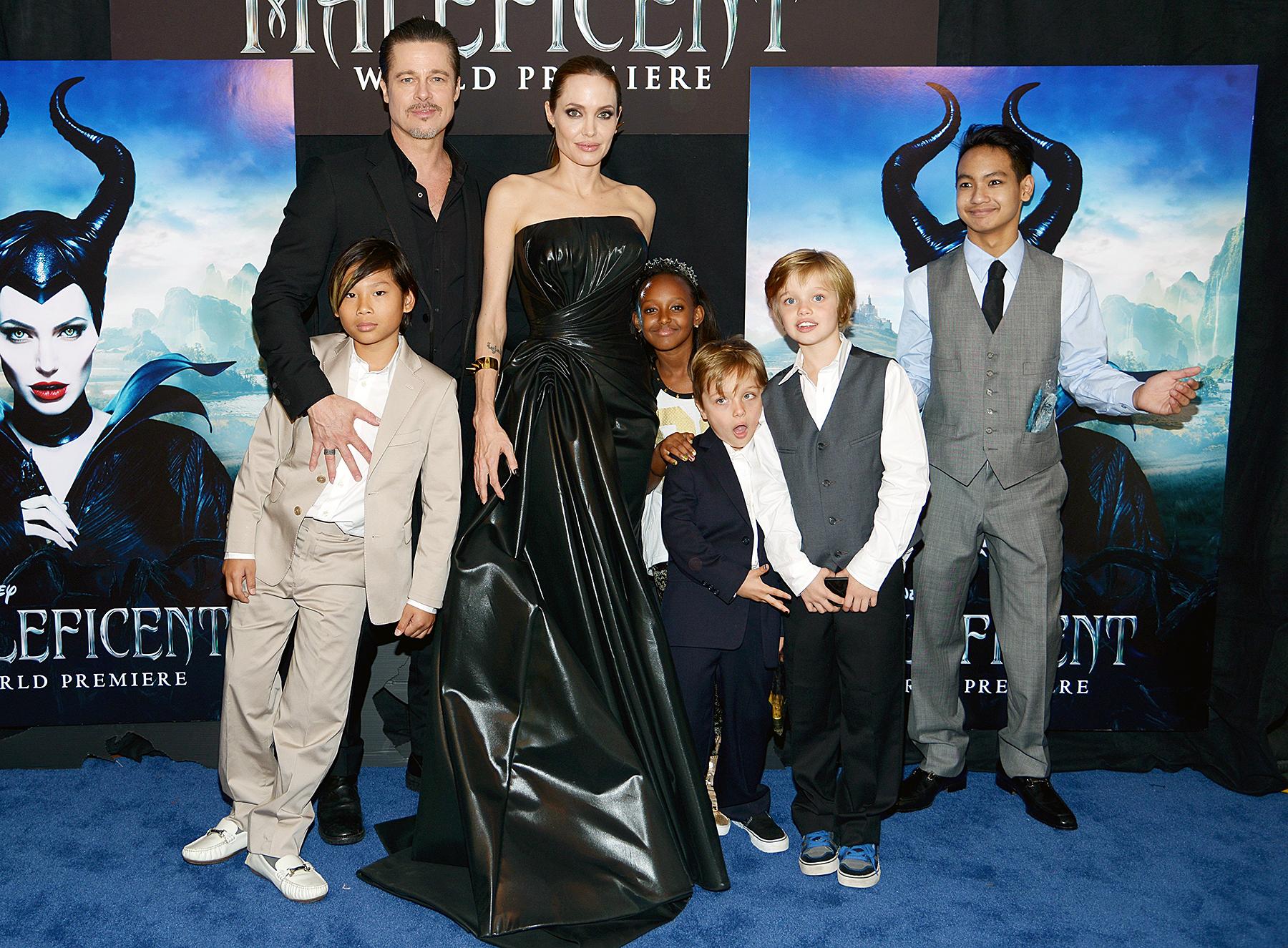 Flashback Angelina Jolie Brad Pitt Took Kids To Maleficent