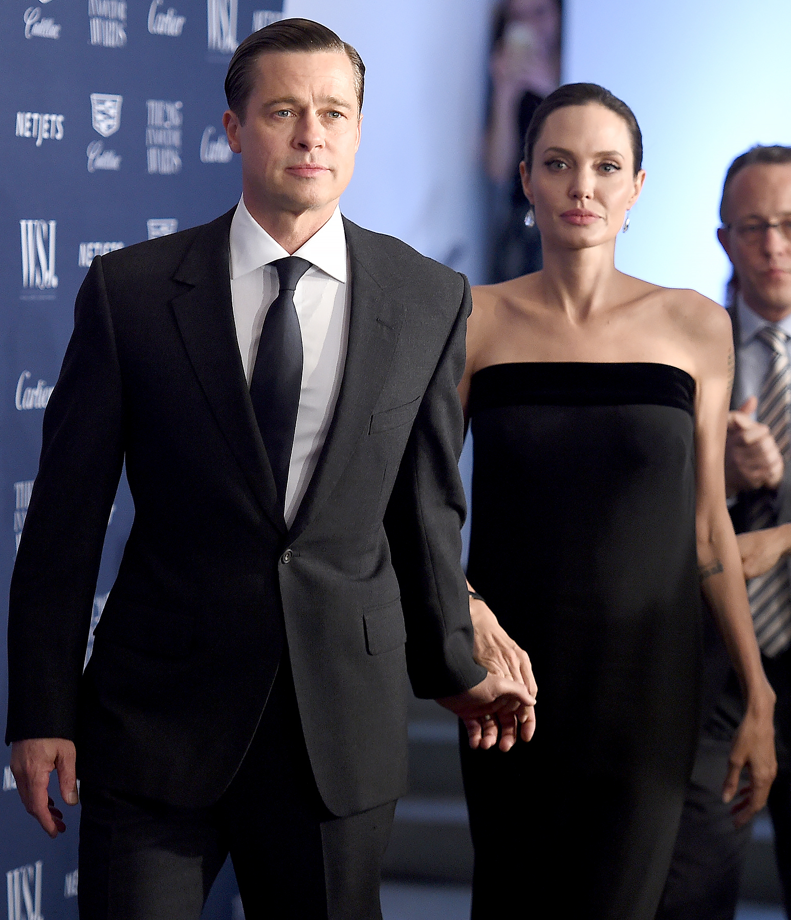 Brad Pitt and Angelina Jolie Pitt attend the WSJ. Magazine 2015 Innovator Awards.