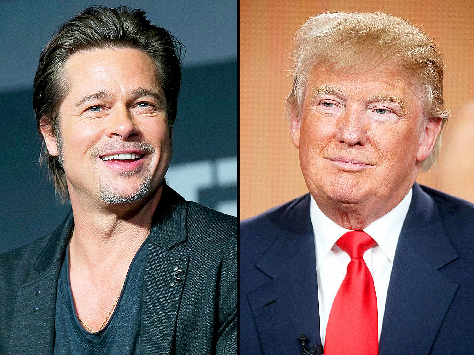 Brad Pitt and Donald Trump