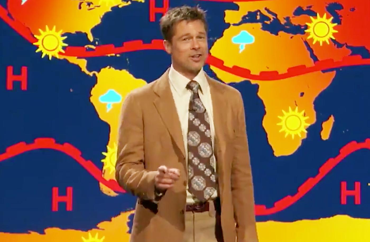 Brad Pitt weatherman The Jim Jefferies Show