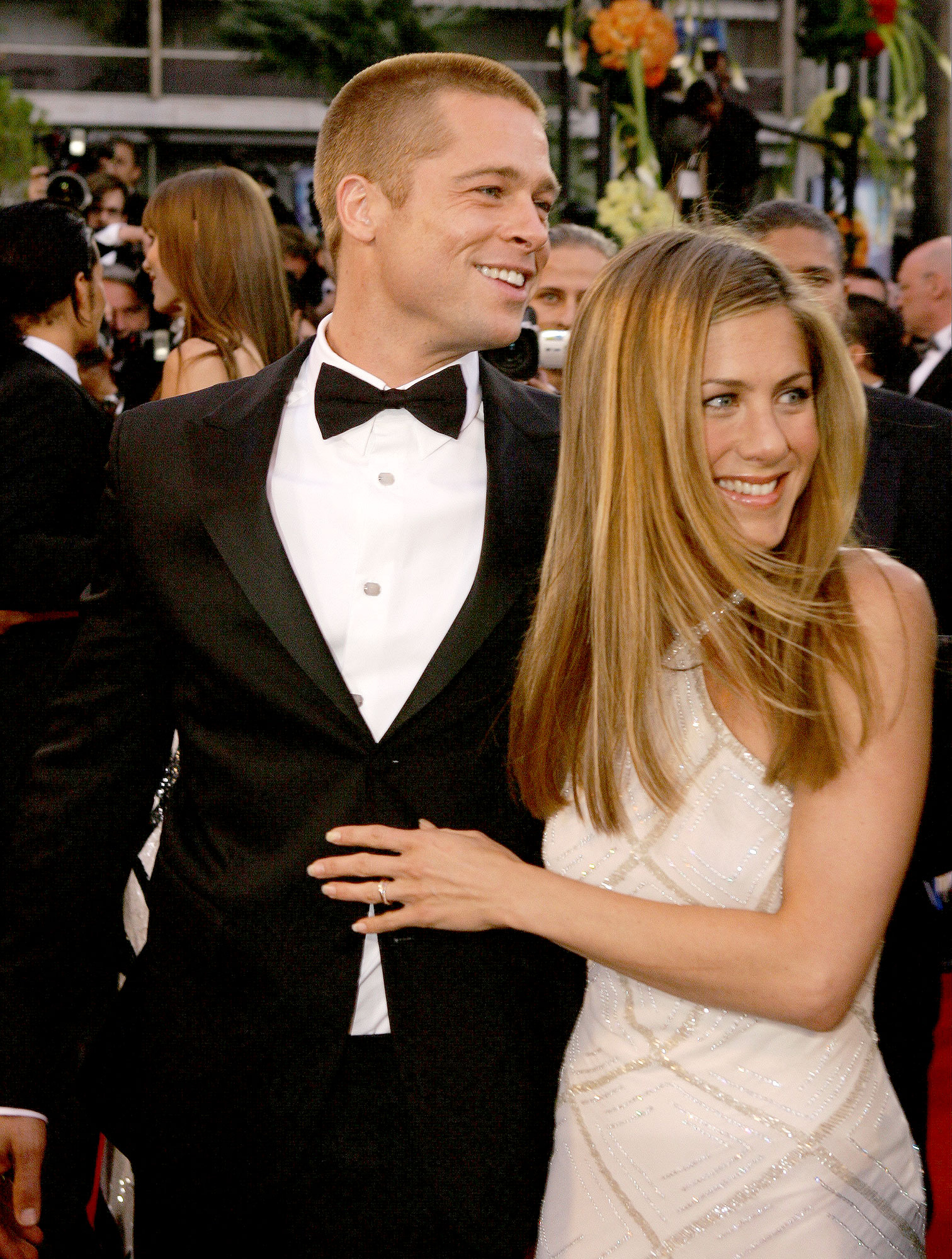Brad Pitt And Jennifer Aniston Attend The Premiere Of Troy At 57th Cannes Film Festival Stephane Cardinale Corbis Via Getty Images