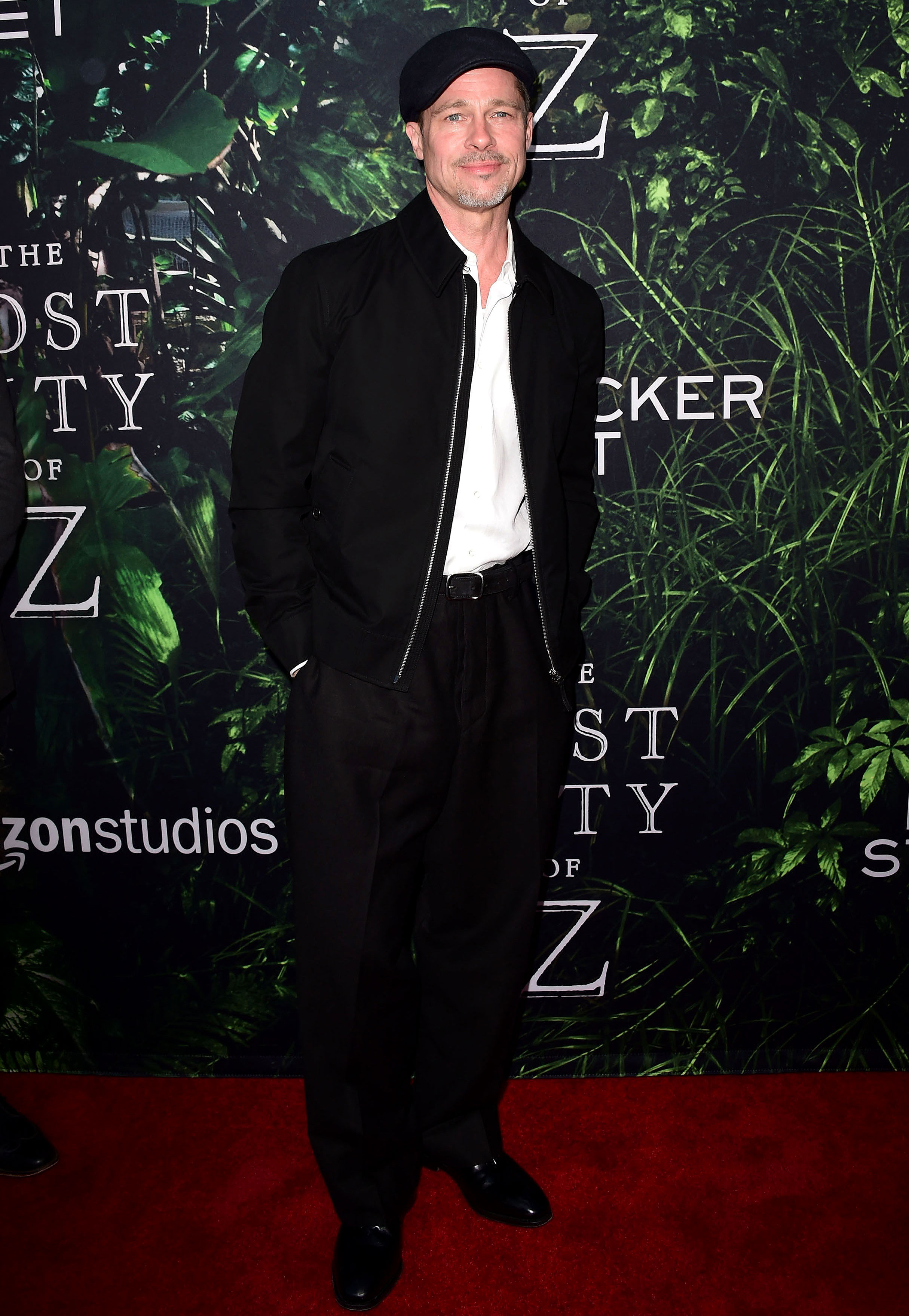 Brad Pitt - During The Lost City Of Z premier in L.A. on April 5, 2017, Pitt seemed to have hit a fashion low. He wore baggy black pants, a black bomber jacket and a flat cap