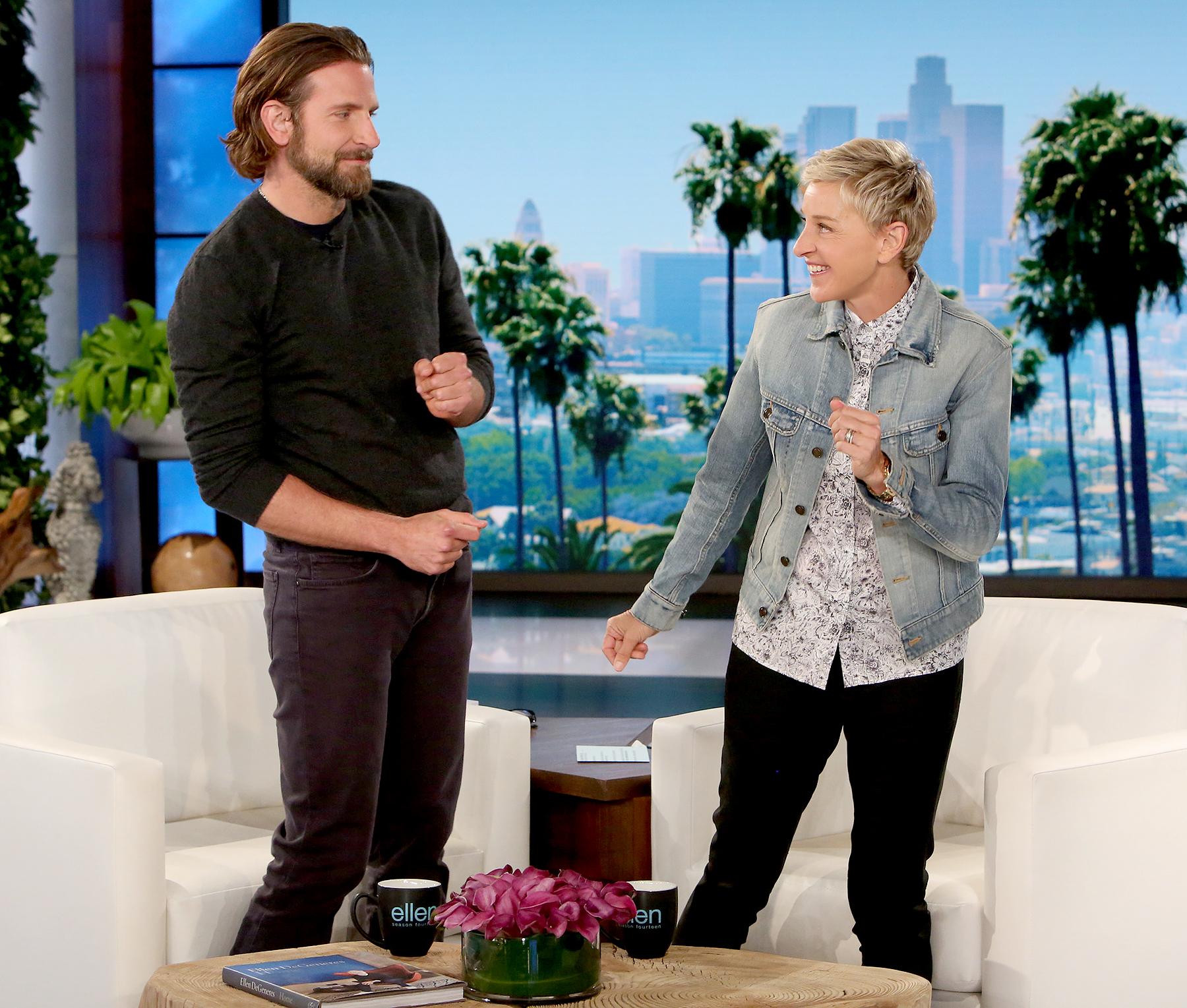 Bradley Cooper and Ellen DeGeneres Michael Rozman/Warner Bros.