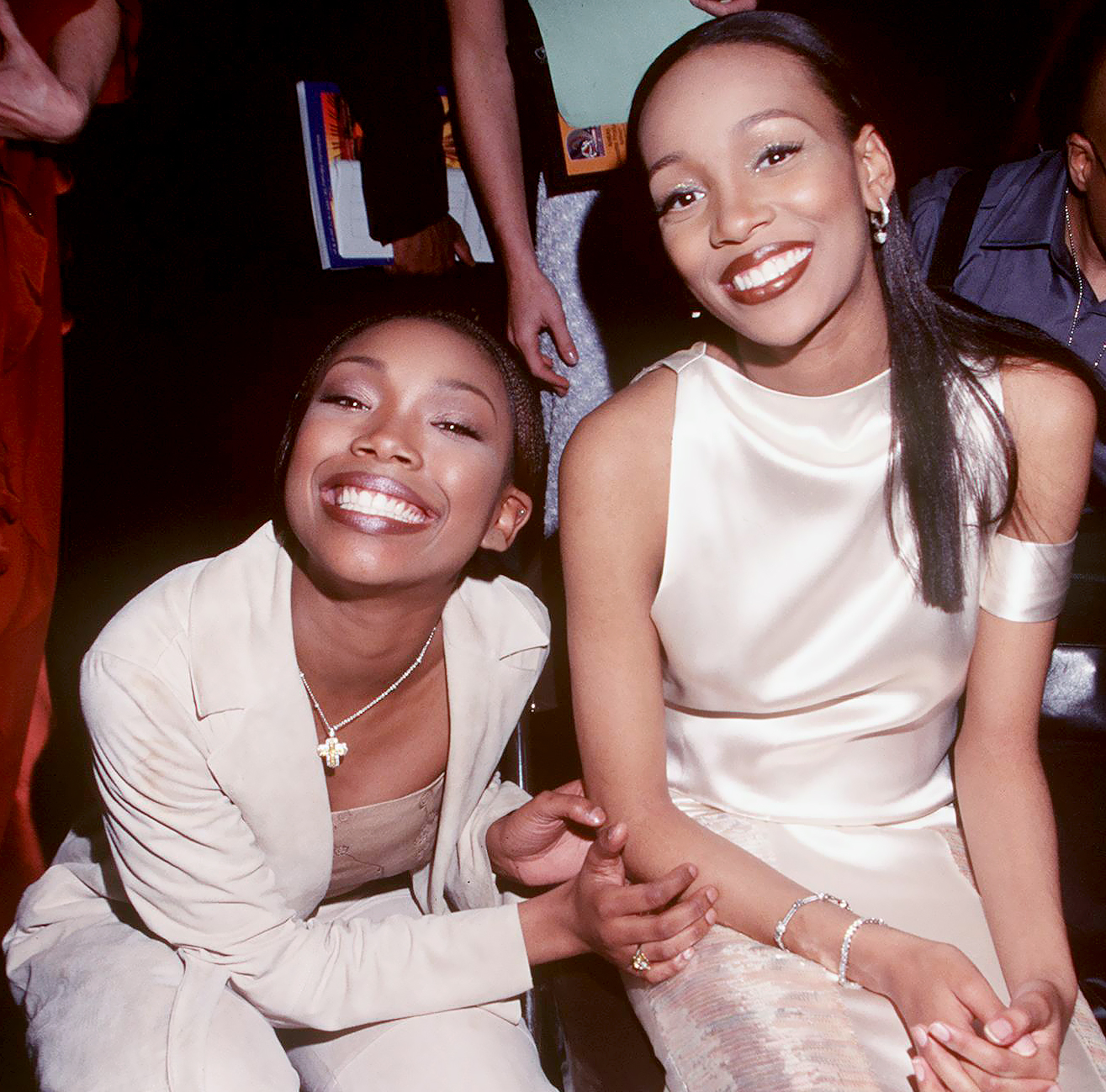 Brandy And Monica at The 41St Annual Grammy Awards in 1999.