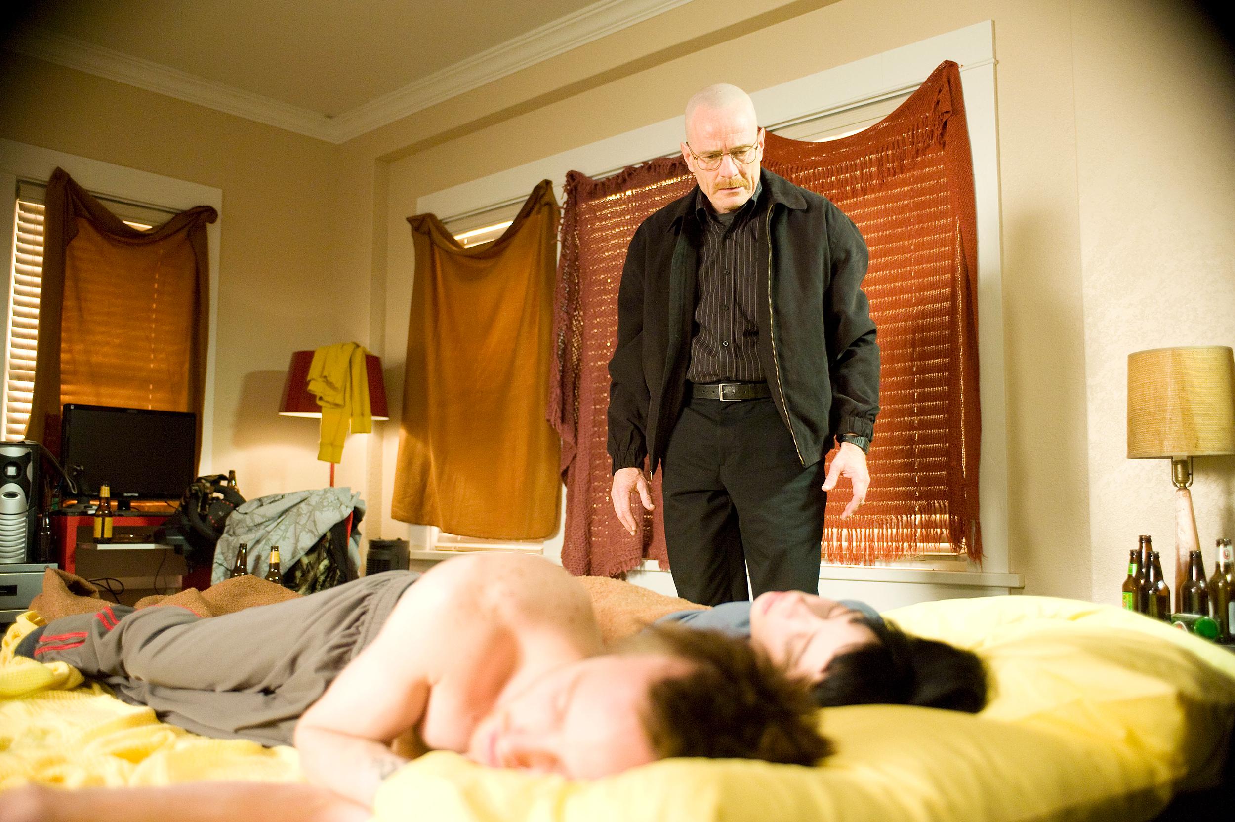 Bryan Cranston, Aaron Paul, and Krysten Ritter in Breaking Bad