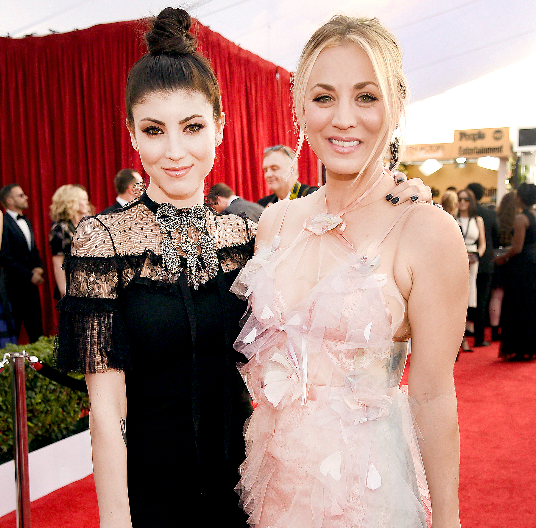 Briana and Kaley Cuoco attend the 23rd Annual Screen Actors Guild Awards.
