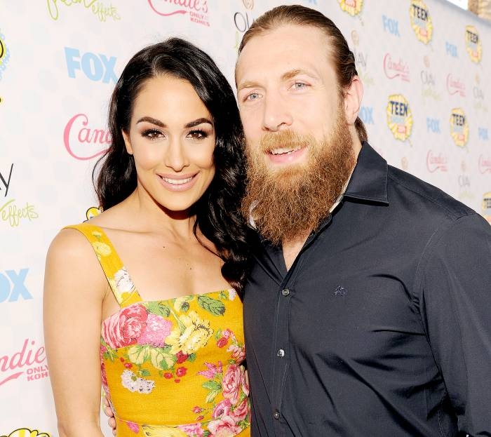 WWE Diva Brie Bella and WWE Superstar Daniel Bryan attend FOX's 2014 Teen Choice Awards at The Shrine Auditorium on August 10, 2014 in Los Angeles, California.