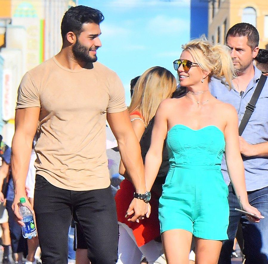 Britney Spears Sam Asghari Disneyland