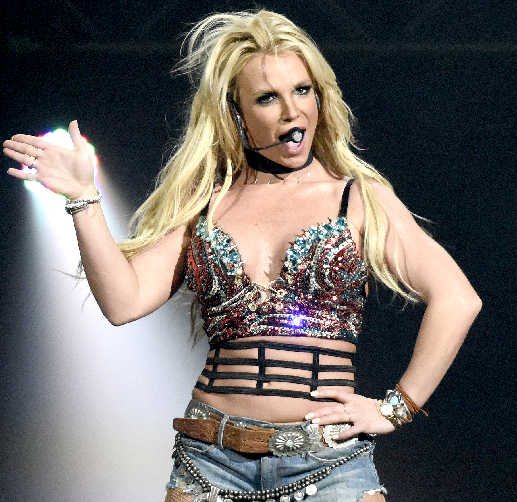 Britney Spears performs during Now! 99.7 Triple Ho Show 7.0 at SAP Center on December 3, 2016 in San Jose, California.
