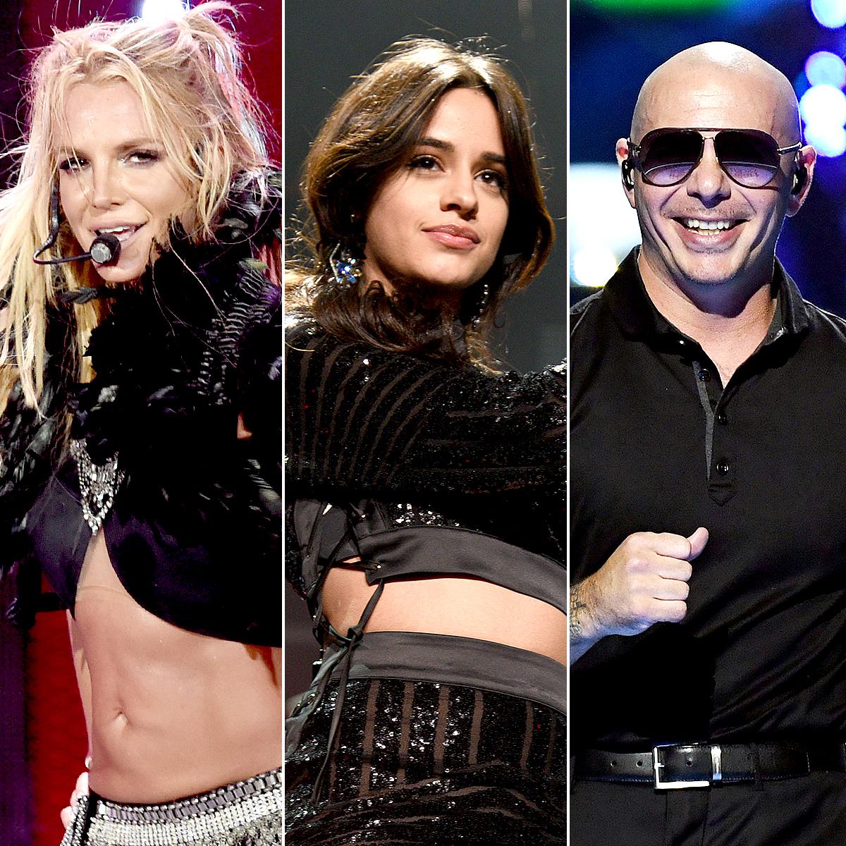 Britney Spears, Camila Cabello, and Pitbull