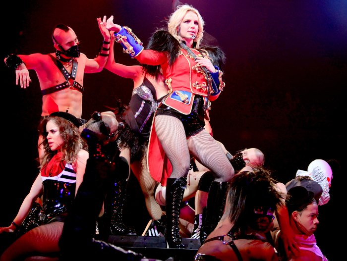 Britney Spears performs onstage during the opening night of