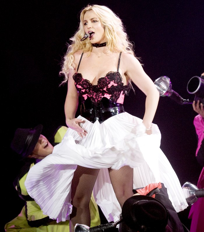 Britney Spears performs live on stage at Ahoy in Rotterdam, Netherlands during her Femme Fatale Tour on 19th October 2011.
