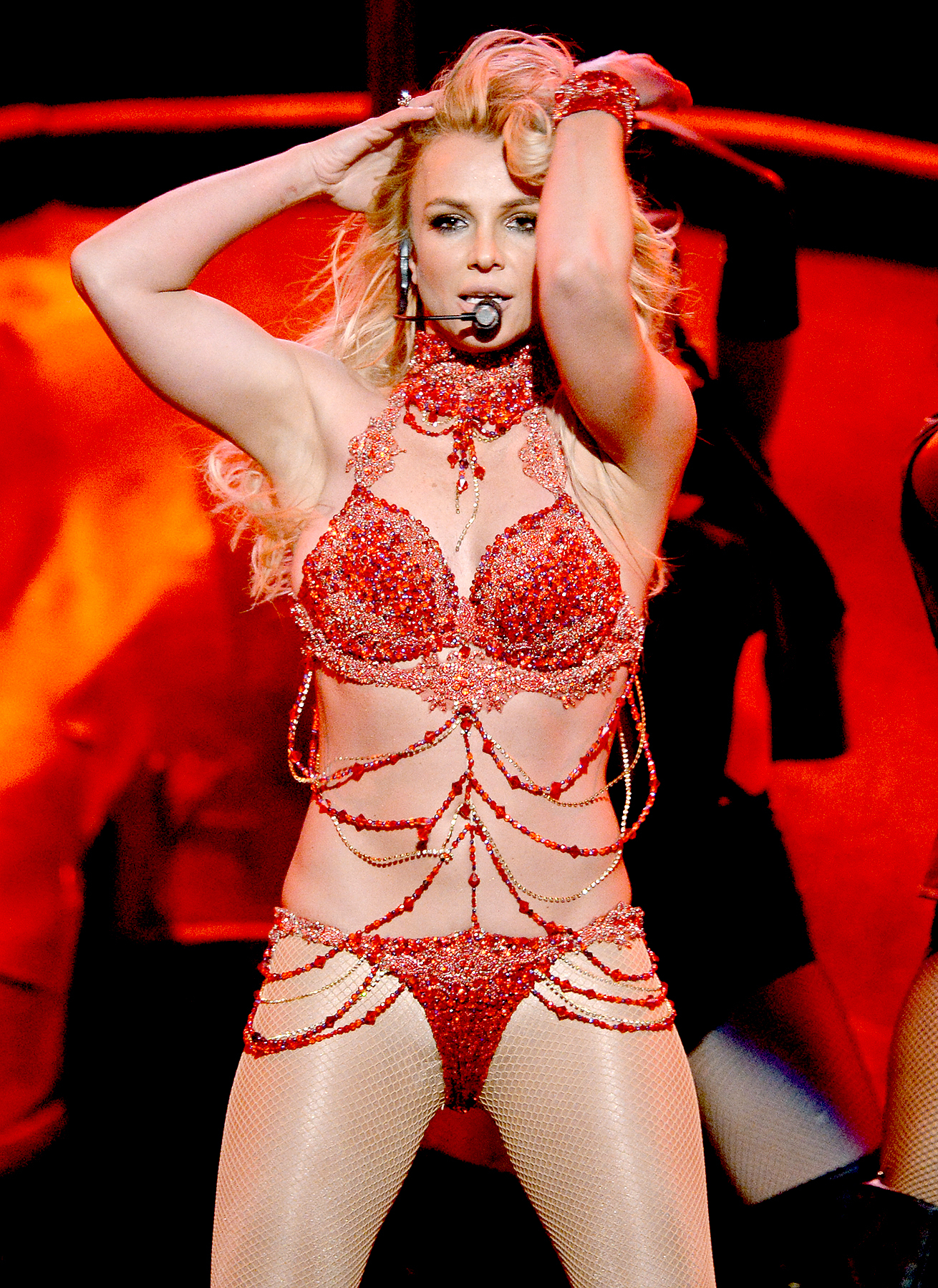 Britney Spears performs onstage during the 2016 Billboard Music Awards.