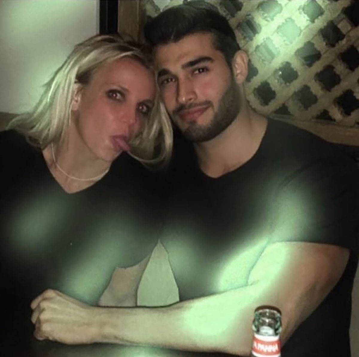 Britney Spears and Sam Asghari on a date in November