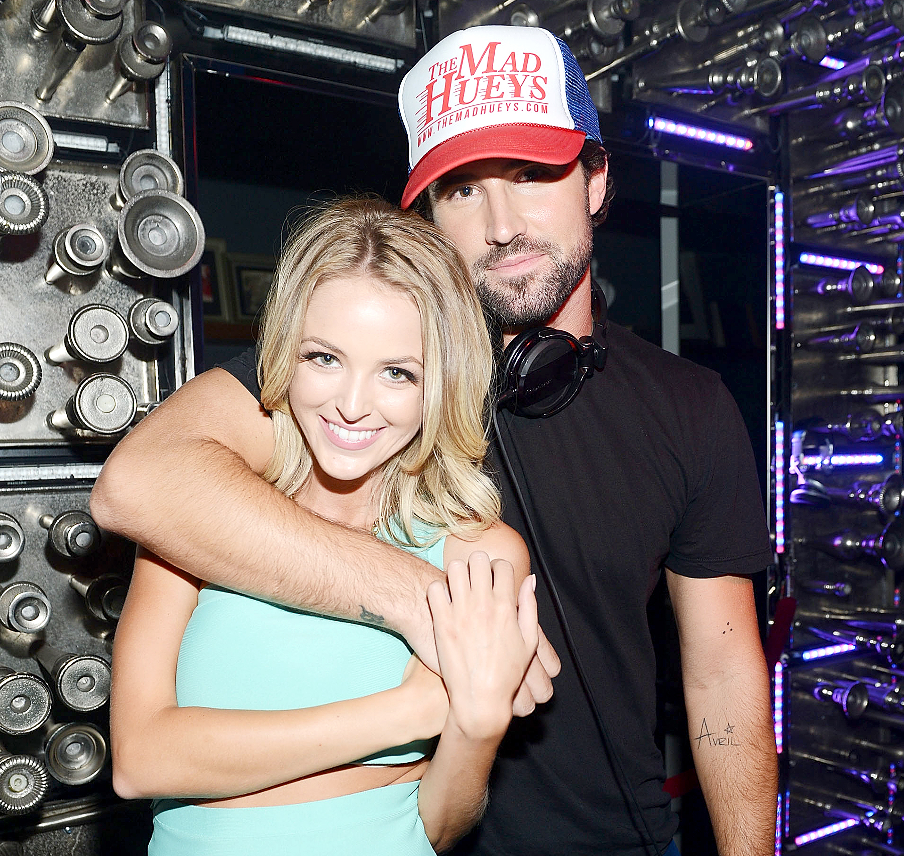 Brody Jenner and Kaitlynn Carter during Brody Jenner's Las Vegas DJ debut at Hyde Bellagio on July 18, 2014, in Las Vegas.