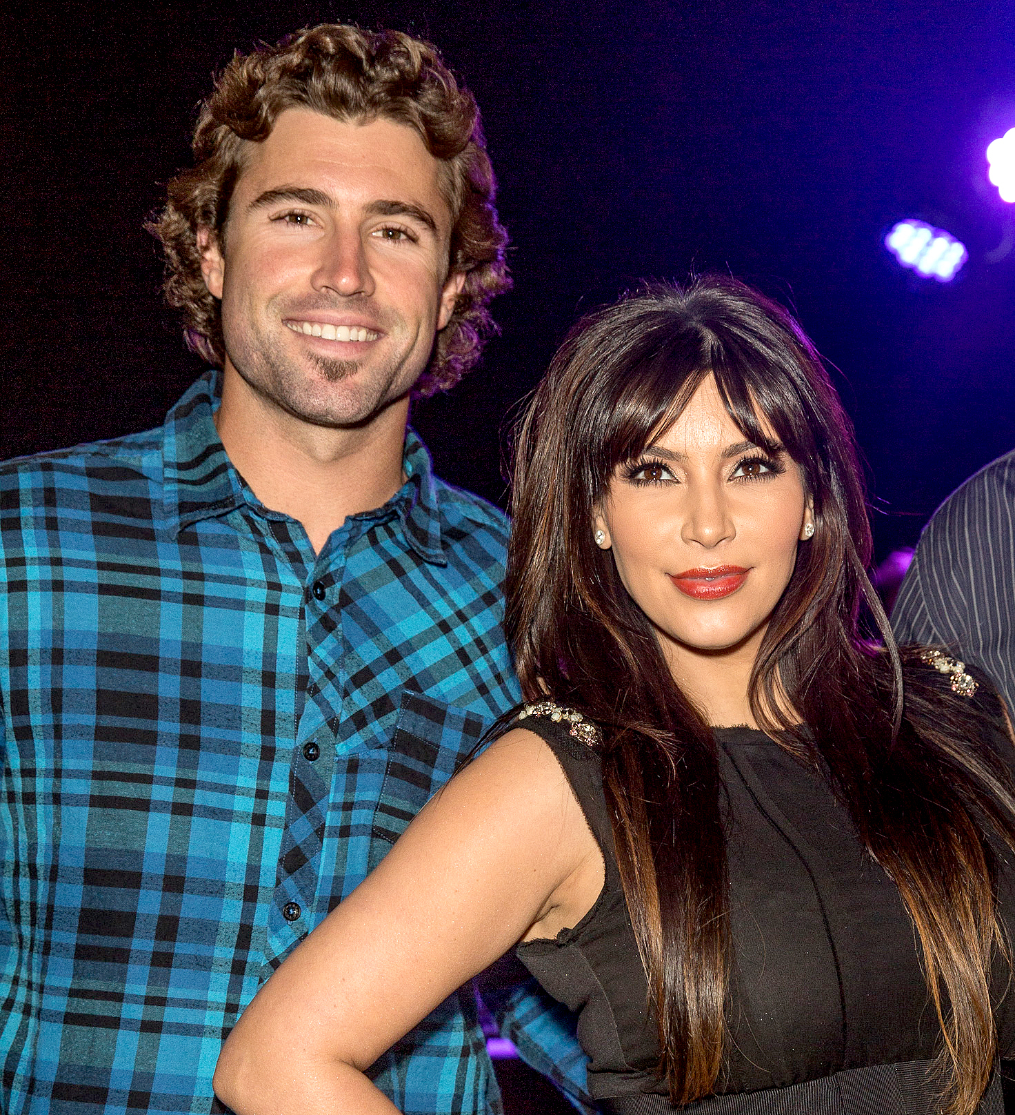 Brody Jenner and Kim Kardashian attend the Brandon and Leah album release party for