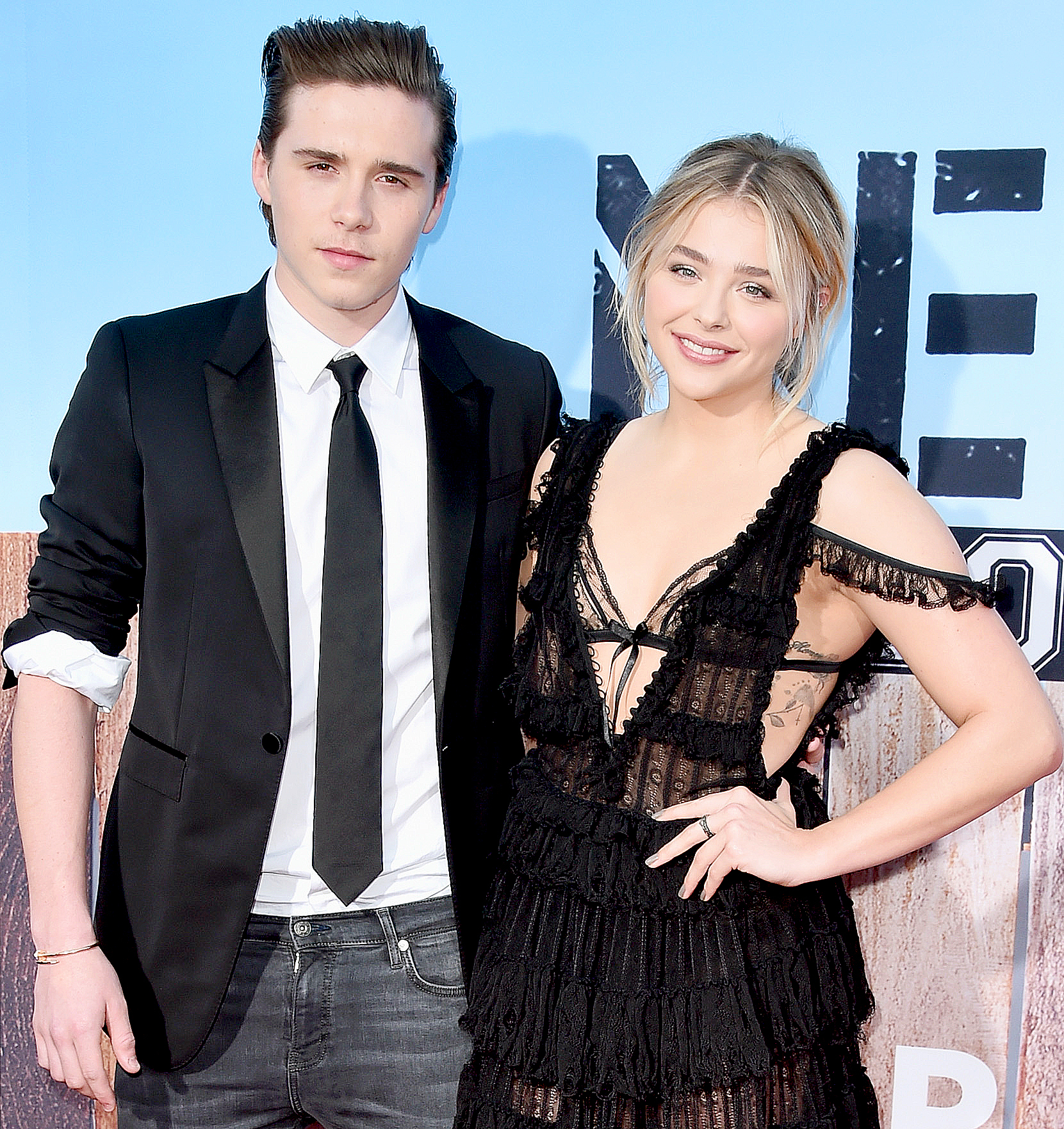 Brooklyn Beckham and Chloë Grace Moretz attend the premiere of Universal Pictures'
