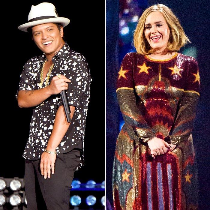 Bruno Mars and Adele