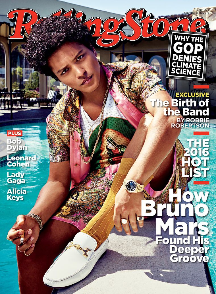 Bruno Mars on the cover of Rolling Stone