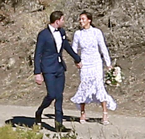 Jamie Chung and Bryan Greenberg - wedding