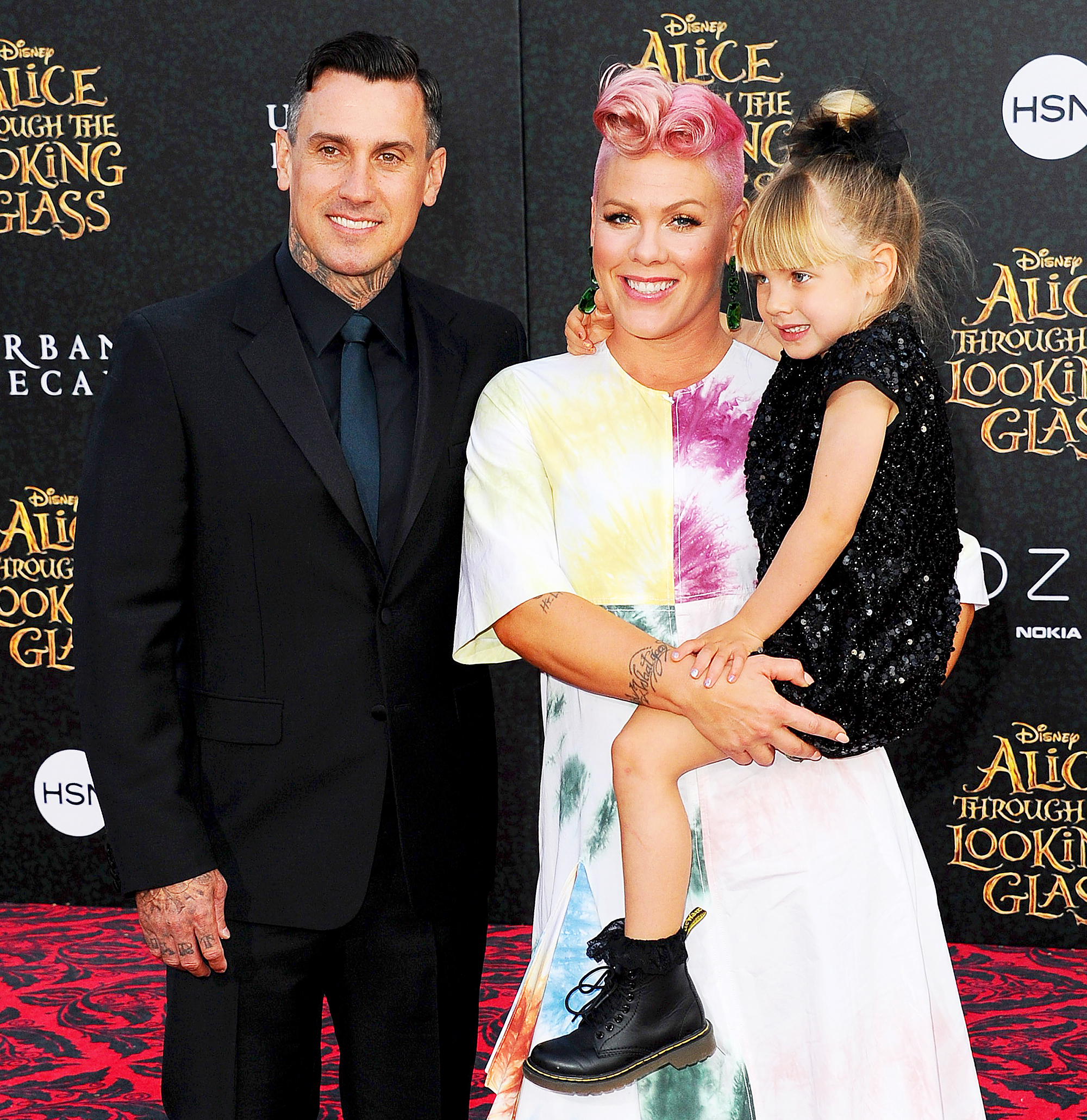 Pink, Carey Hart and Willow