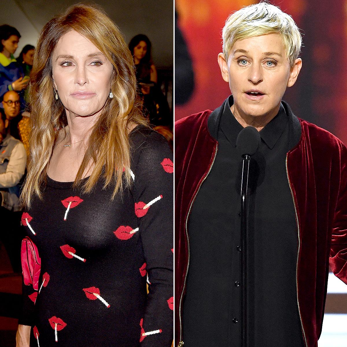 Caitlyn Jenner and Ellen DeGeneres