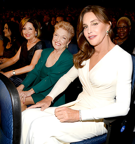Caitlyn Jenner - ESPYS sitting with mom and sister