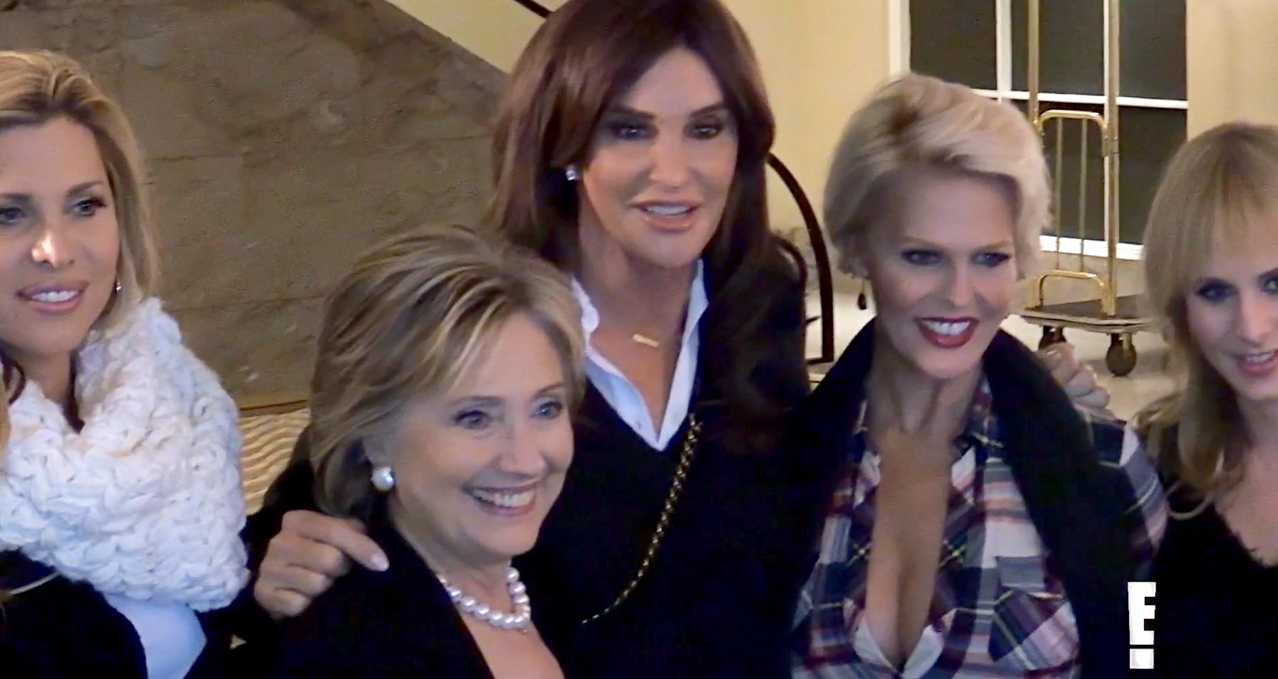 Hillary Clinton and Caitlyn Jenner