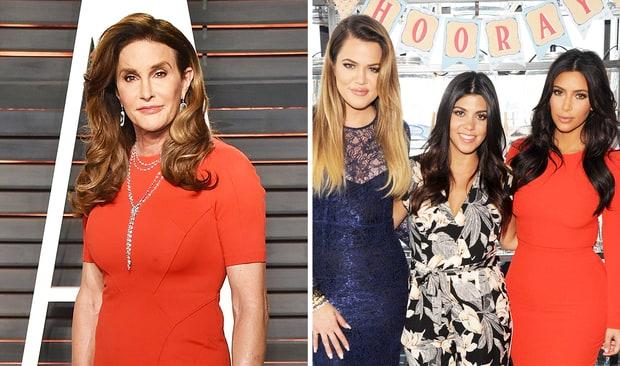 Caitlyn Jenner, Khloe Kardashian, Kourtney Kardashian and Kim Kardashian