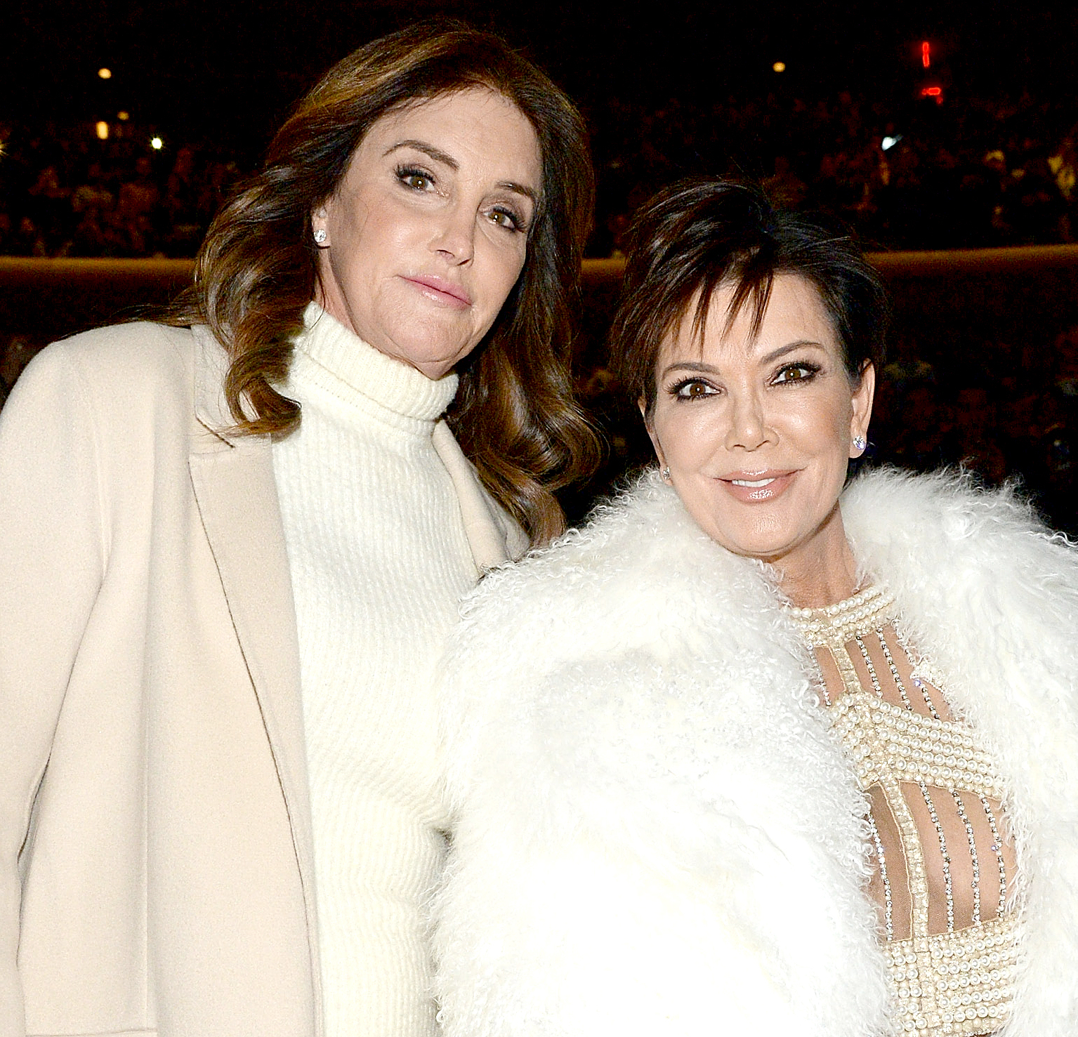 Caitlyn Jenner and Kris Jenner attend Kanye West Yeezy Season 3 at Madison Square Garden on February 11, 2016 in New York City.