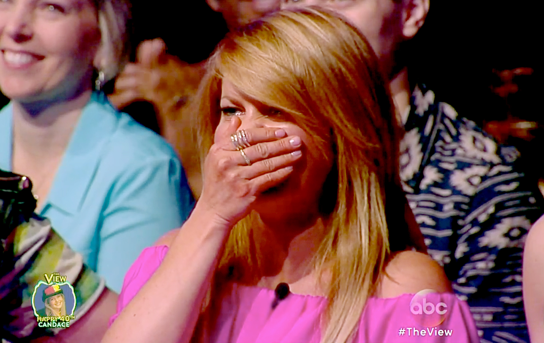 candace cameron bure cries over 40th birthday surprise on the view