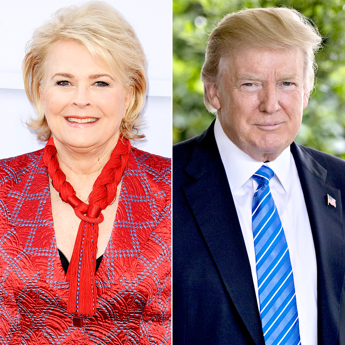 Candice Bergen and Donald Trump