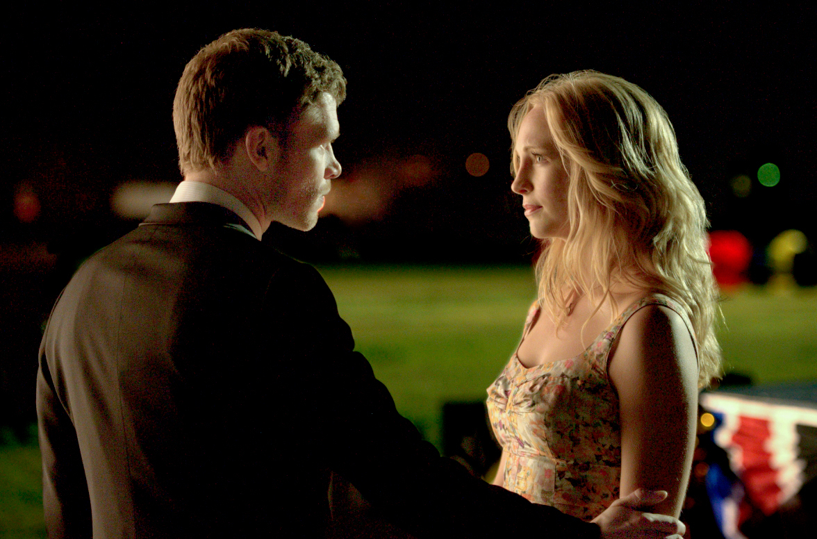 Joseph Morgan and Candice King on 'The Vampire Diaries'
