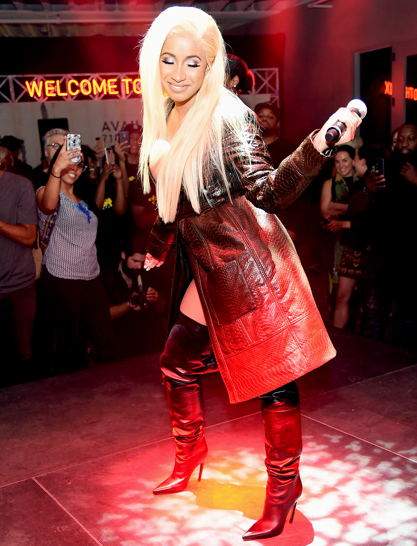 Cardi B performs during Airbnb's New York City Experiences Launch Event on September 26, 2017 in the Brooklyn borough of New York City City.