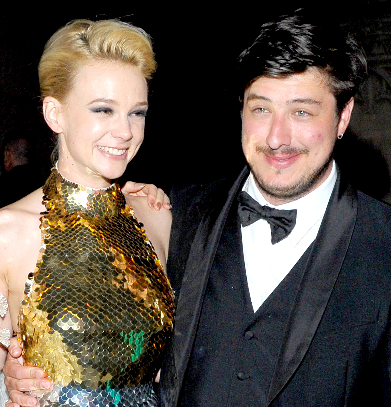 "Carey Mulligan and Marcus Mumford attend the after party for the ""Schiaparelli and Prada: Impossible Conversations"" Costume Institute exhibition on May 7, 2012 in New York City."