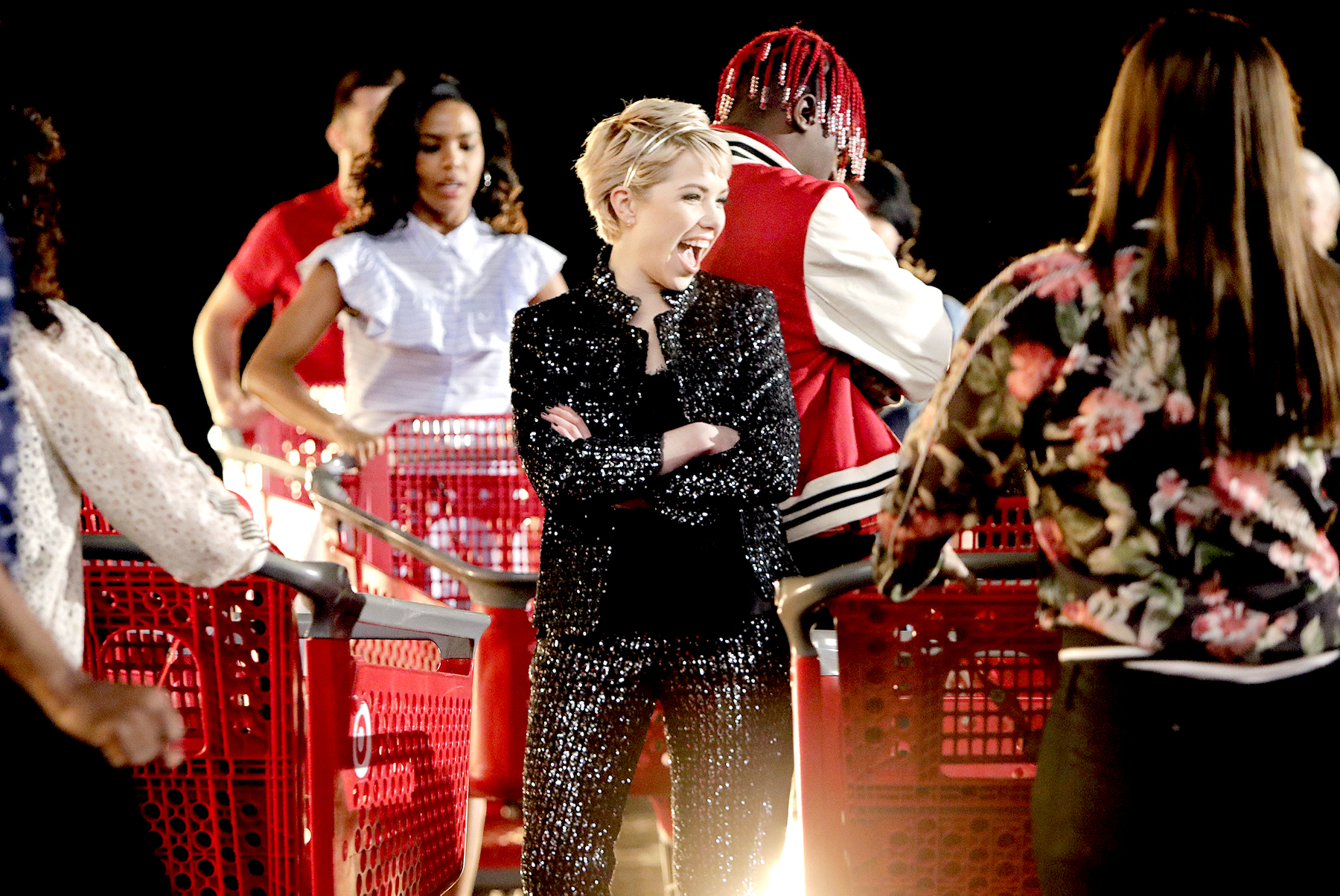 Carly Rae Jepsen On-Set with Target for