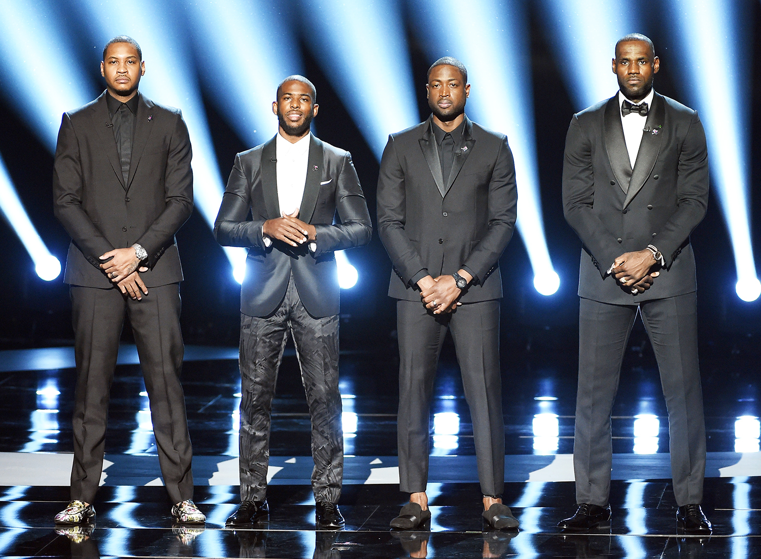 Carmelo Anthony, Chris Paul, Dwyane Wade and LeBron James