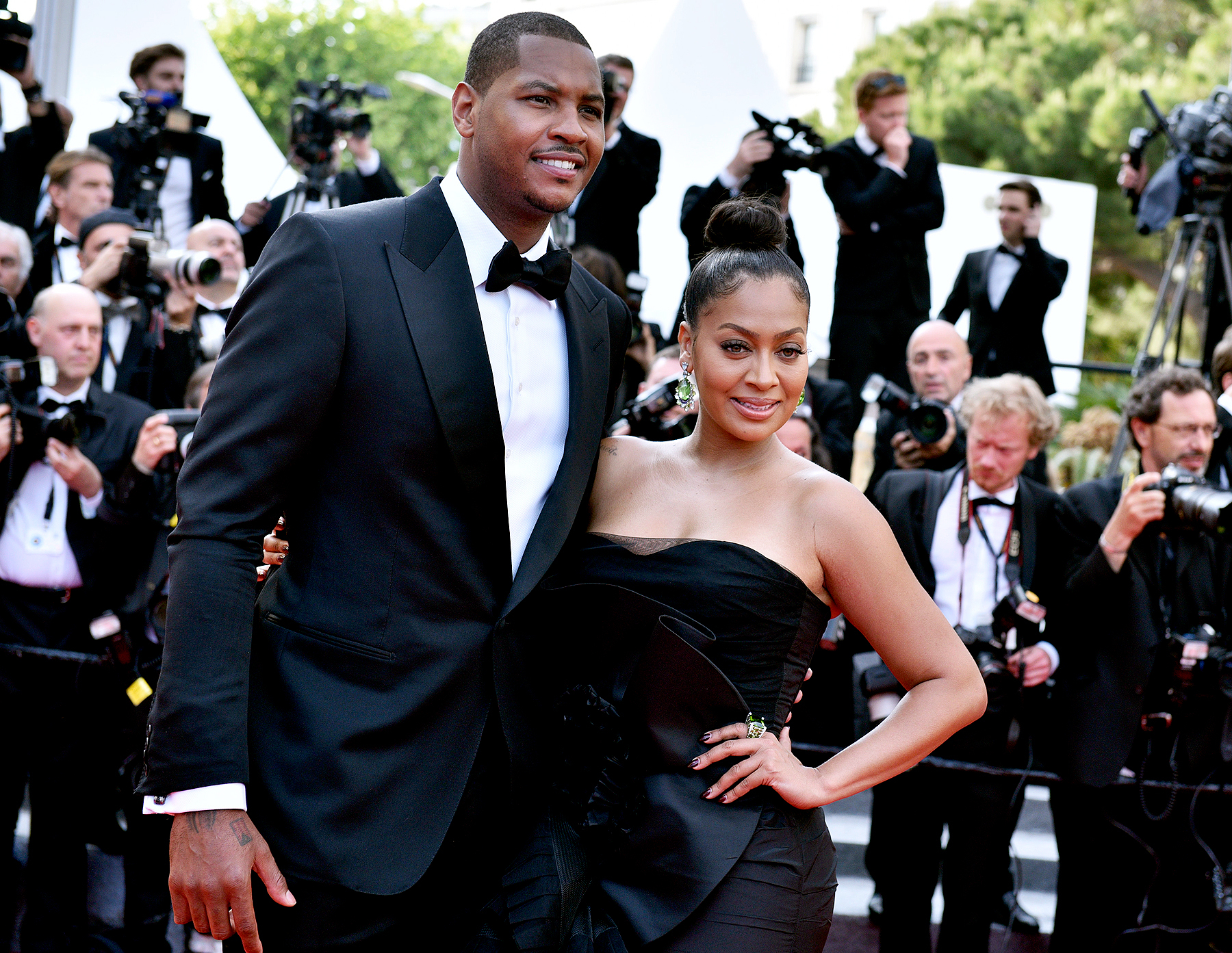 Carmelo Anthony and La La Anthony at the 'Loving' premiere during the 69th annual Cannes Film Festival at the Palais des Festivals, Cannes, France, May 16, 2016.