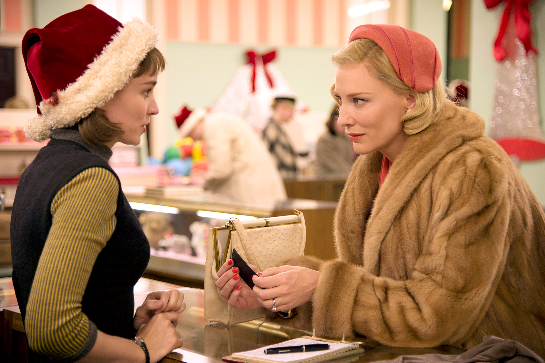 Rooney Mara and Cate Blanchett star in Carol.