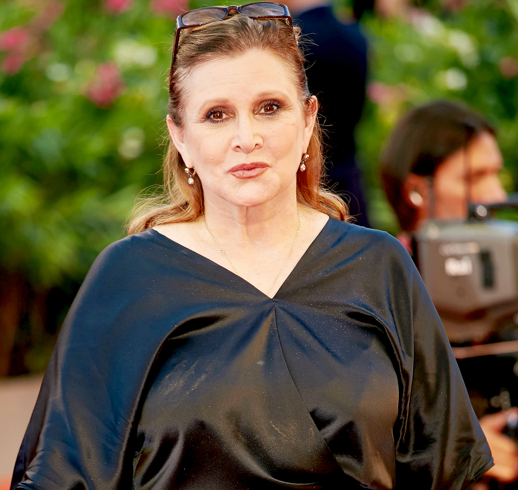 Carrie Fisher attends the Gravity Premiere and Opening of 70th Venice Film Festival at Sala Grande on August 28, 2013.