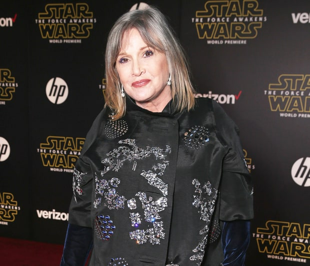 Carrie Fisher attends Premiere of Walt Disney Pictures and Lucasfilm's