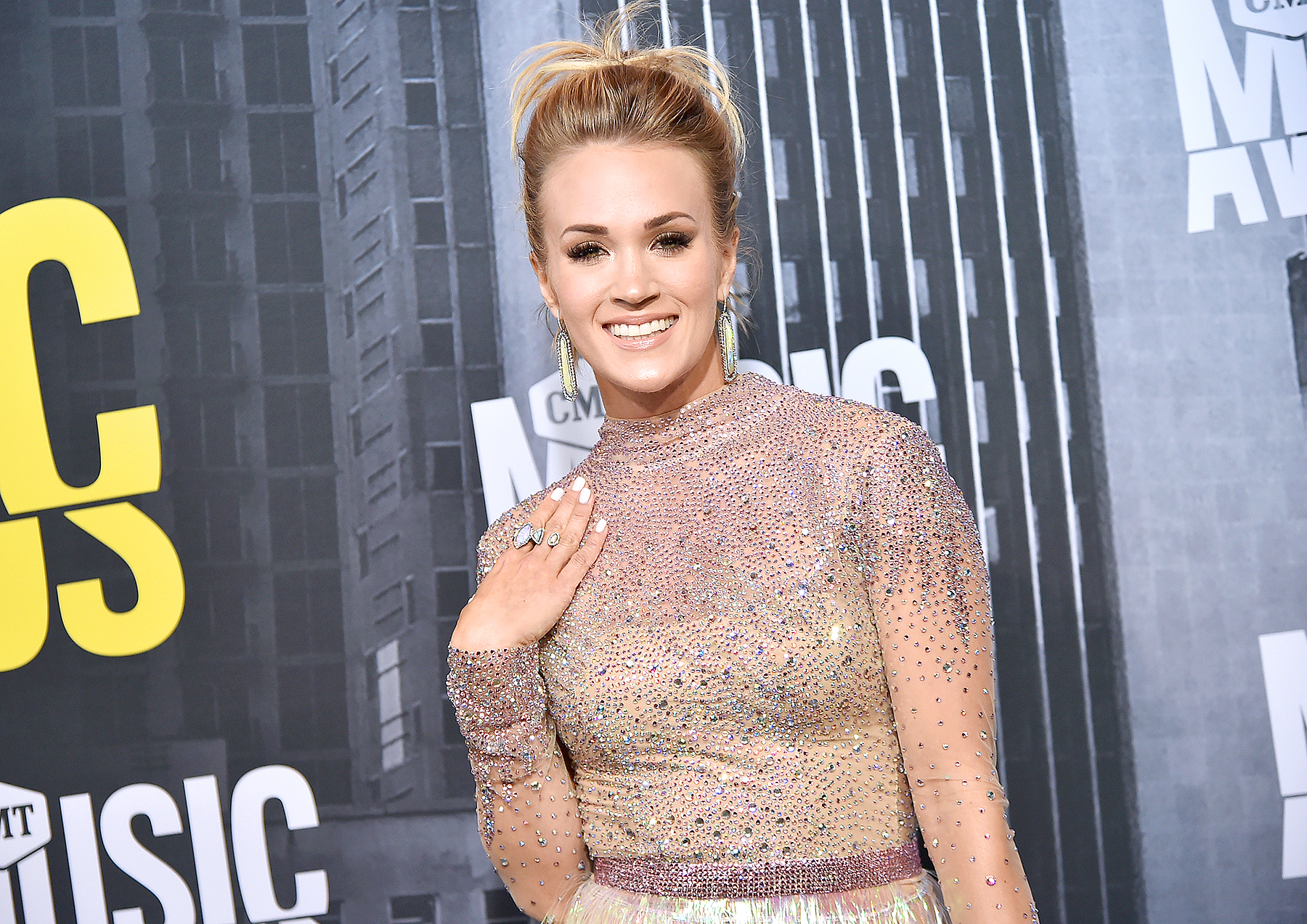 Carrie Underwood attends the 2017 CMT Music Awards at the Music City Center on June 7, 2017 in Nashville, Tennessee.