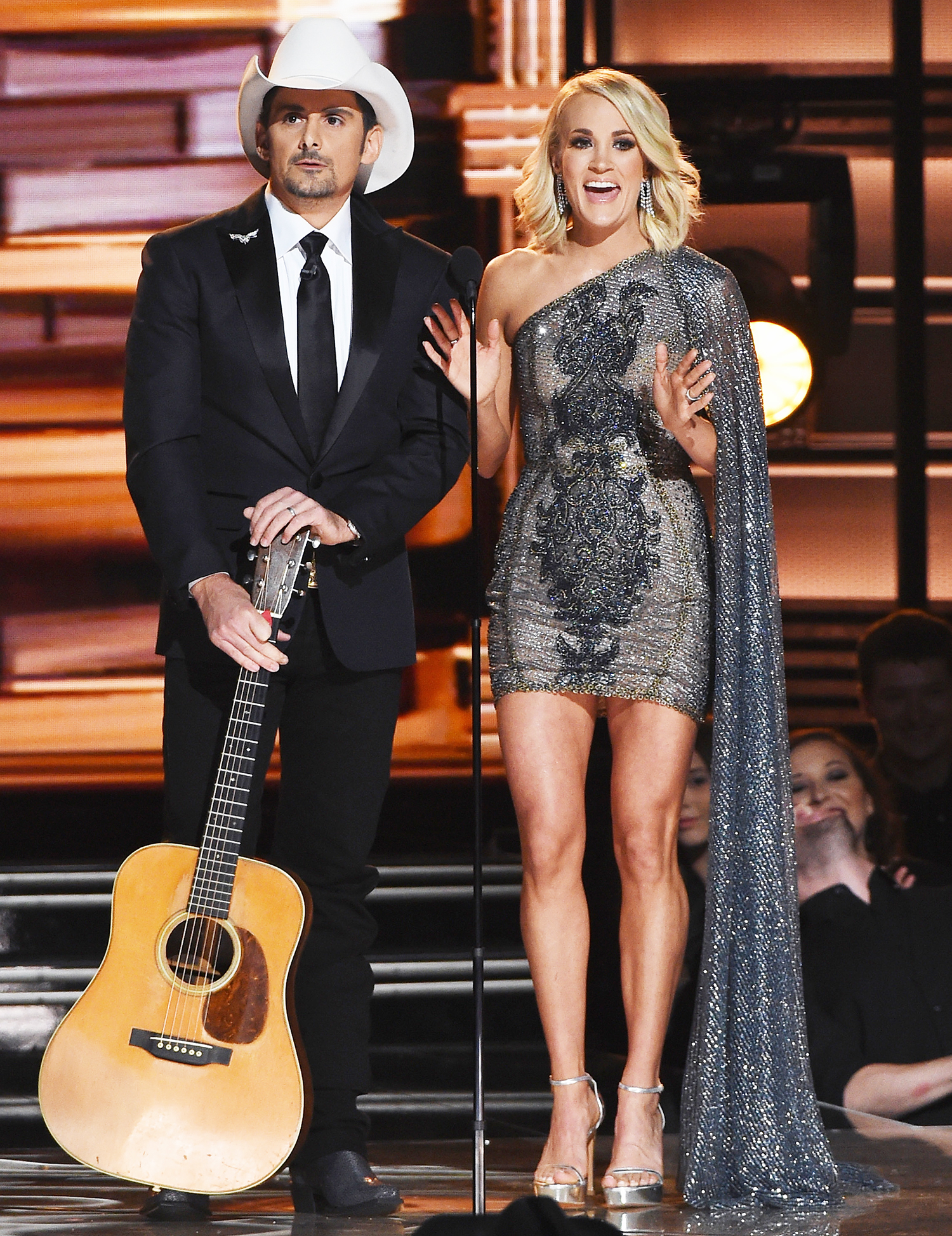 Carrie Underwood Brad Paisley Spoof Election At Cma