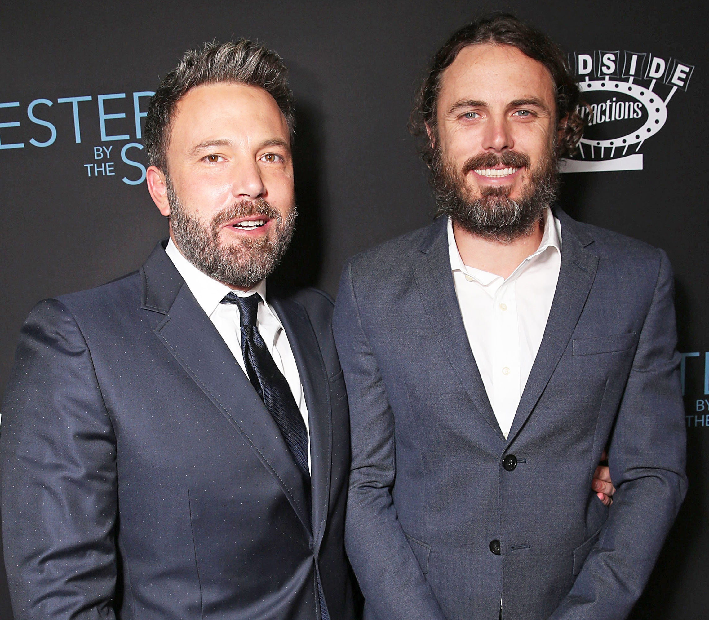 Ben Affleck and Casey Affleck attend the