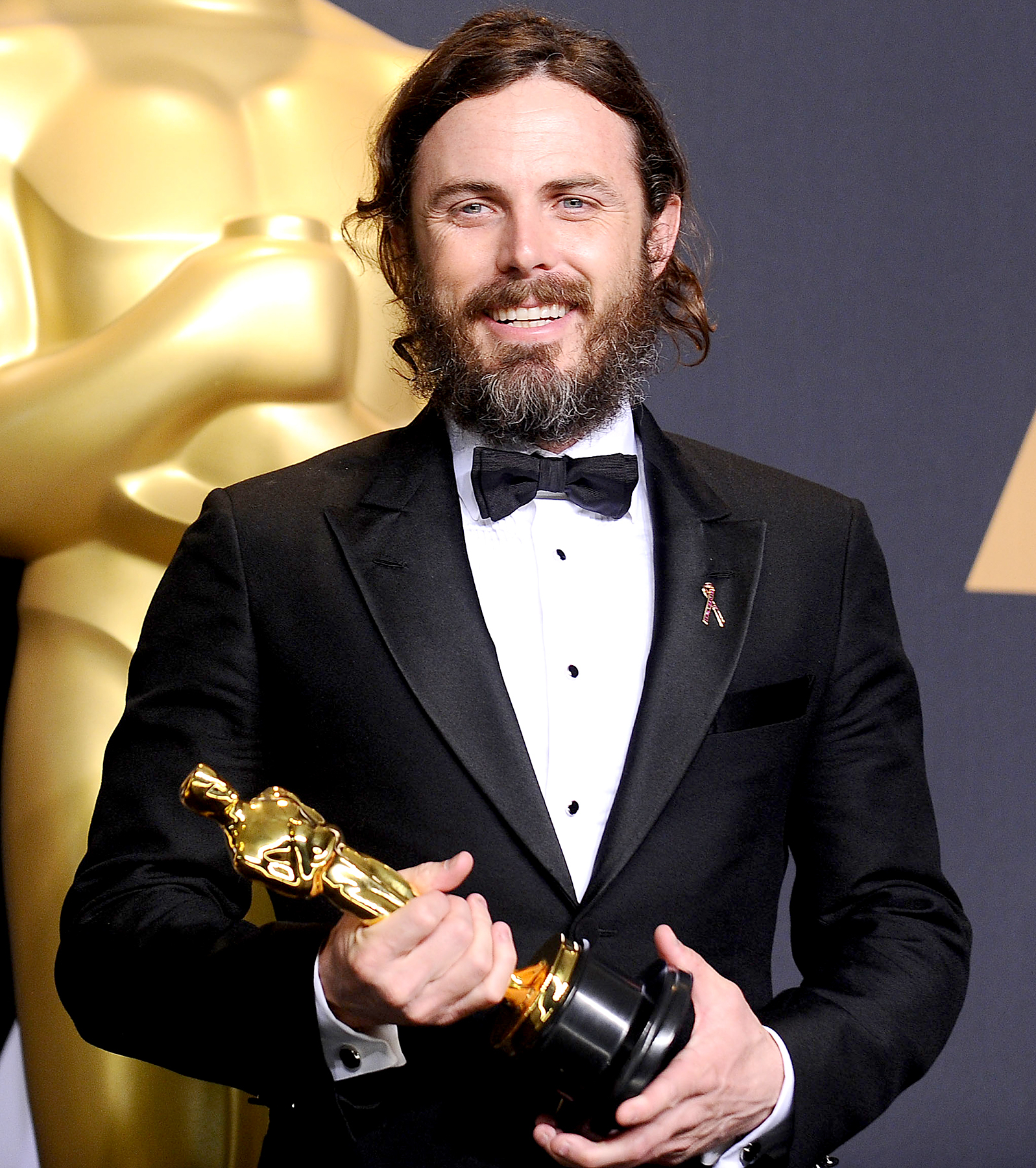 Casey Affleck poses in the press room at the 89th annual Academy Awards at Hollywood & Highland Center on Feb. 26, 2017 in Hollywood, California.