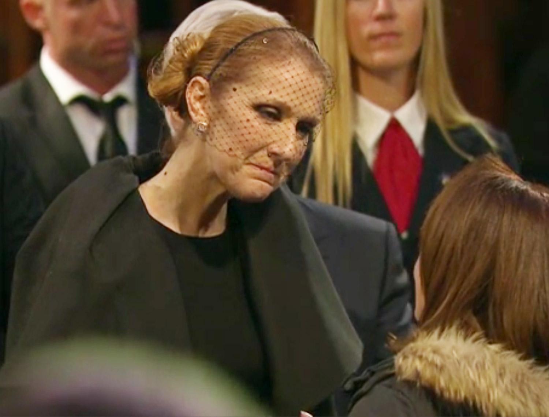 Celine Dion Greets Hundreds Of Mourners At Husband Rene