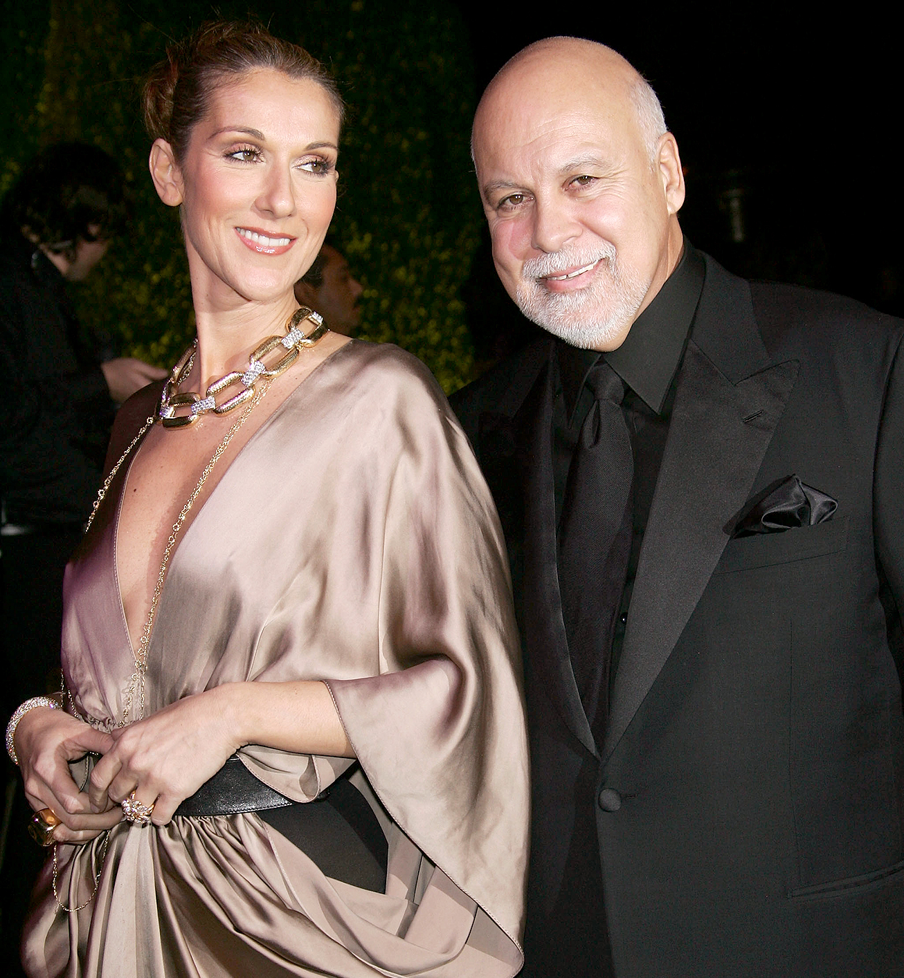 Celine Dion and Rene Angelil arrives at the 2007 Vanity Fair Oscar Party at Mortons on February 25, 2007 in West Hollywood, California.